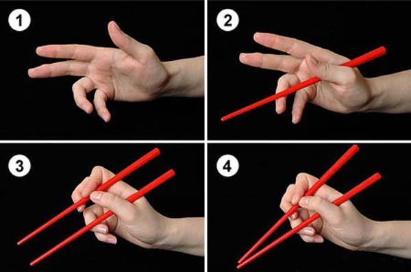 Как правильно есть китайскими палочками