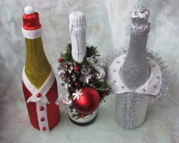 Декор бутылок, подарок своими руками