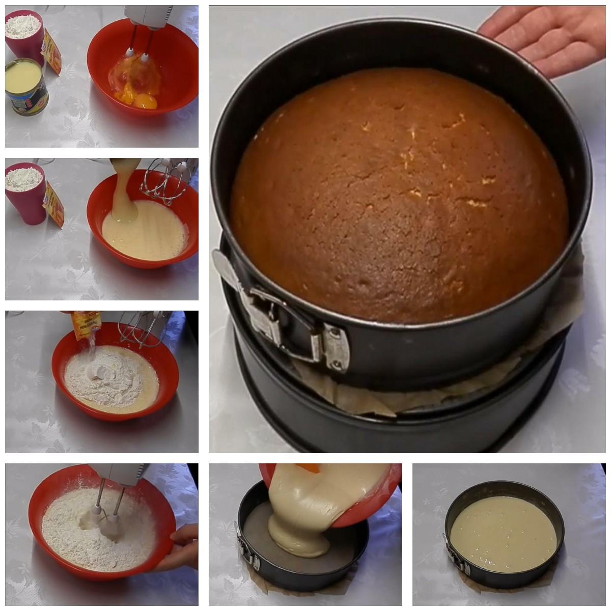 печем коржи для торта