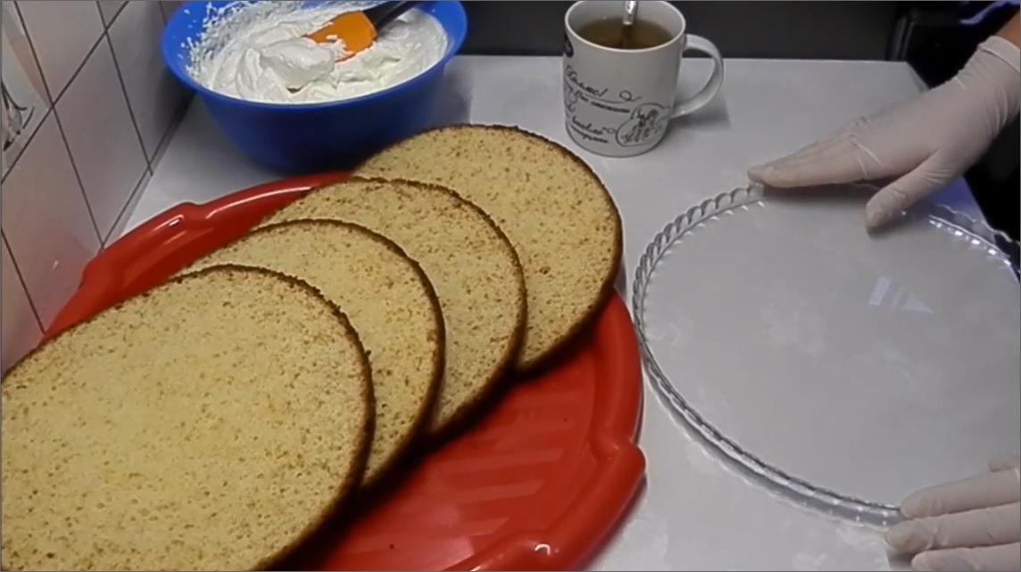 Режим коржи для торта на четыре части