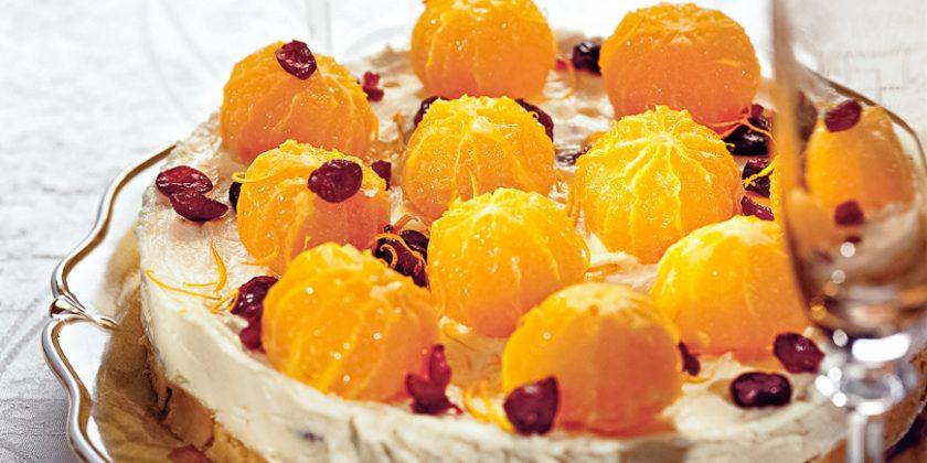 Торт мандаринно-ореховый