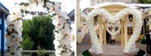 арки из шаров на свадьбу