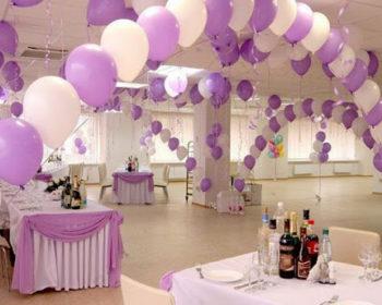 украшение свадьбы шарами